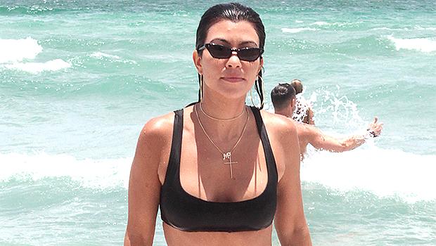 Kourtney Kardashian Rocks White Thong Bikini As She Soaks In A Swimming Pool: 'Life Is But A Dream'