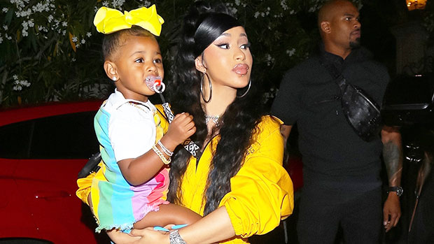 Cardi B Puts Baby Bump On Display While Wearing Pink Jumpsuit In Sweet Video With Kulture, 3.jpg