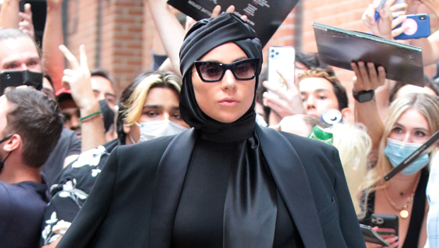 Lady Gaga Stuns In Bodysuit, Sparkly Tights & Massive Platform Heels While Out In NYC.jpg