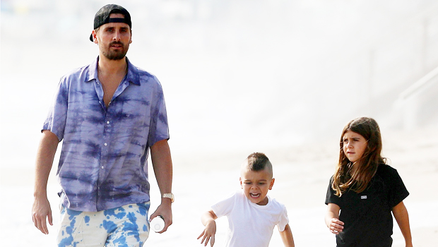 scott disick with kids reign and penelope