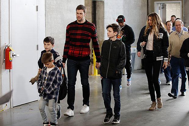 Tom Brady with family.