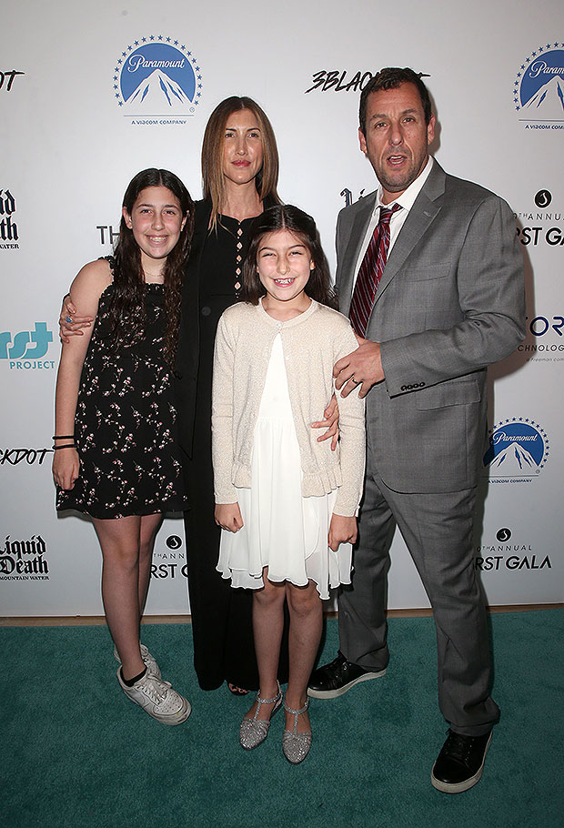 adam sandler with wife jackie and daughters