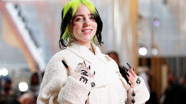 Billie Eilish Reveals Her Lacy Lingerie Under Corset Top At Album Release Party — Photos