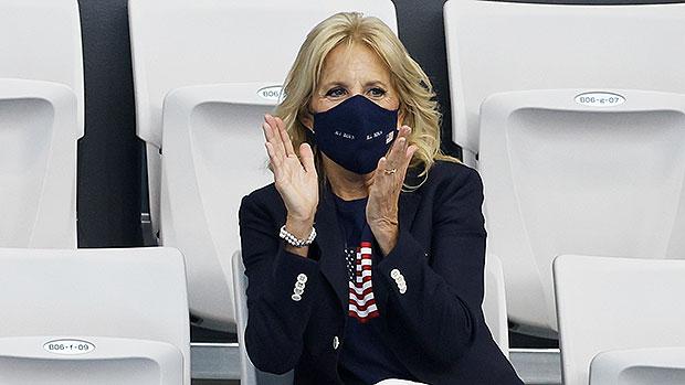 Jill Biden Cheers On Team USA In American Flag T-Shirt At Tokyo Olympics — Photos.jpg