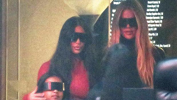 Khloe Kardashian Spotted Loyally By Sis Kim's Side At Kanye West's 'Donda' Show — Photo.jpg