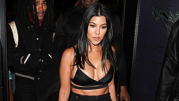Kourtney Kardashian Rocks See-Through Top & Leather Mini Skirt In Edgy New Photo.jpg