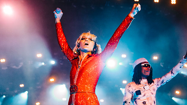 Miley Cyrus Slays In Sparkling Romper For Lollapalooza Performance — Photos