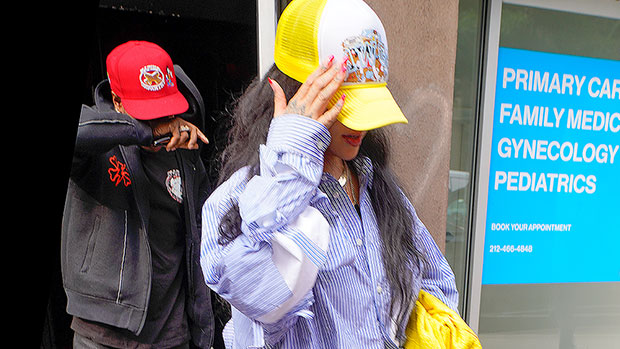 Rihanna & A$AP Rocky Spotted Leaving Recording Studio Together In NYC — See Pics