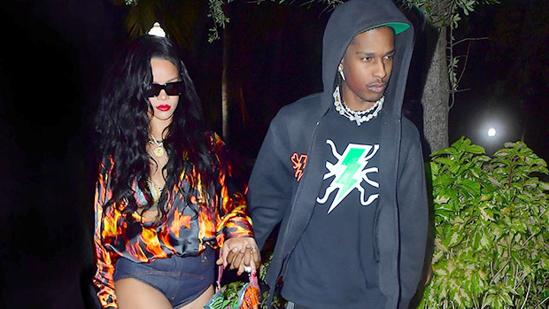Rihanna Wears Short Shorts While Holding Hands With A$AP Rocky On Miami Date Night — Photo