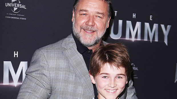 Russell Crowe with son Tennyson