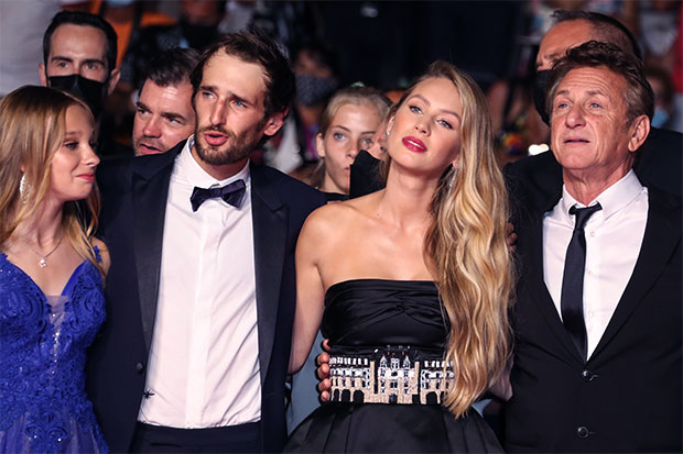 Sean Penn with daughter Dylan and son Hopper