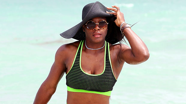 Serena Williams, 39, Looks Statuesque While Poolside In Blue One-Piece Swimsuit — Photo