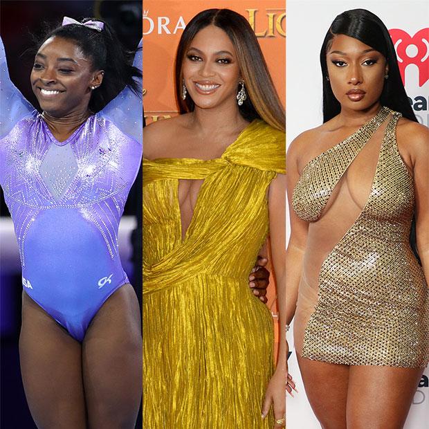 Simone Biles, Beyonce, Megan Thee Stallion