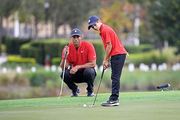 Tiger Woods & son Charlie