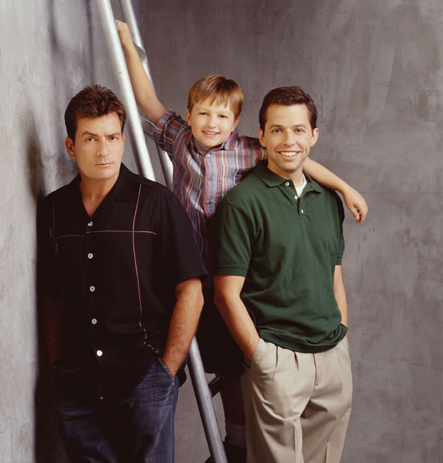 two and a half men star angus tones, charlie sheen and jon cryer