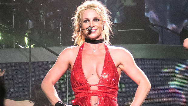 Britney Spears Rocks 2 Tight Orange Dresses As She Grooves To A Janet Jackson Song — Watch
