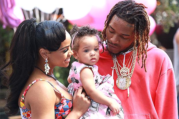 Fetty Wap with daughter Lauren Maxwell