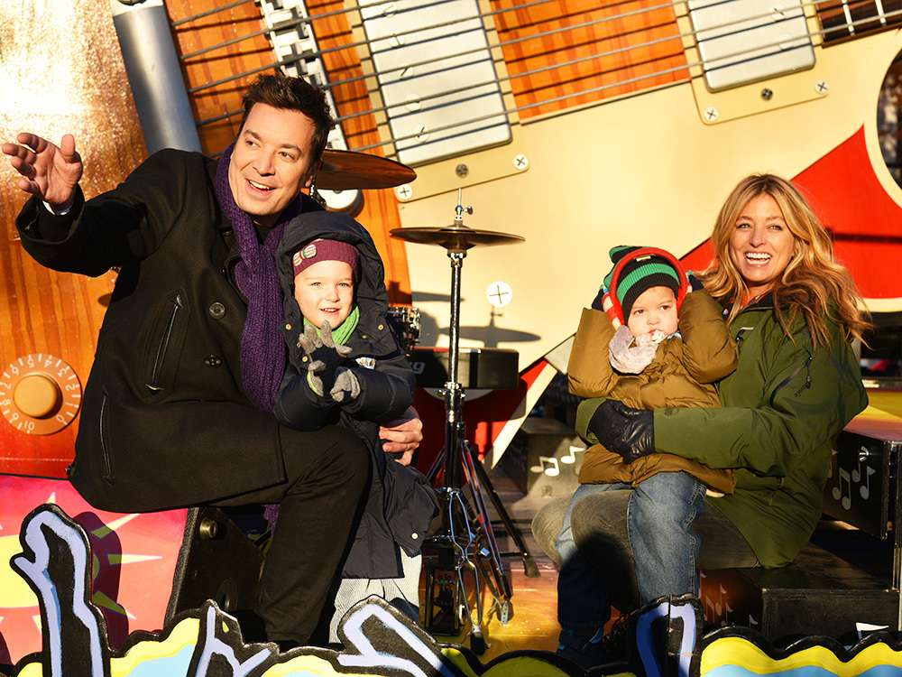 Jimmy Fallon, Nancy Juvonen and their daughters