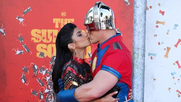 John Cena & Wife Shay Shariatzadeh Passionately Kiss At 'Suicide Squad' LA Premiere — Photos