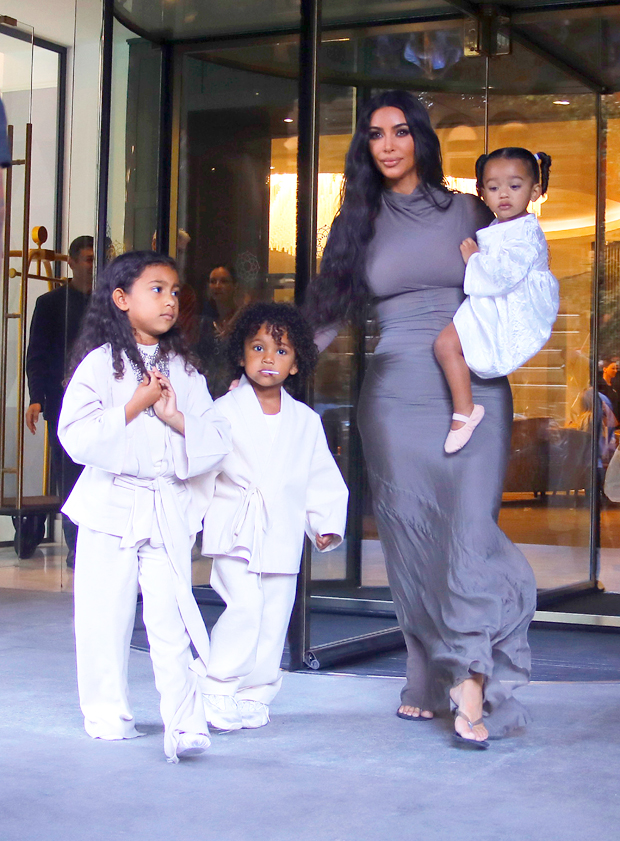Kim Kardashian and her kids