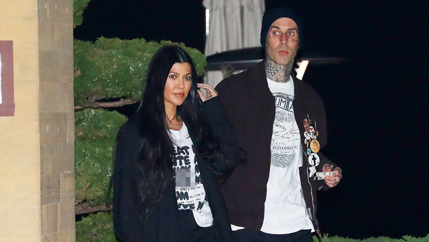 Kourtney Kardashian Covers Her Chest With Only Her Hair As Travis Barker Snaps A Flirty Photo.jpg