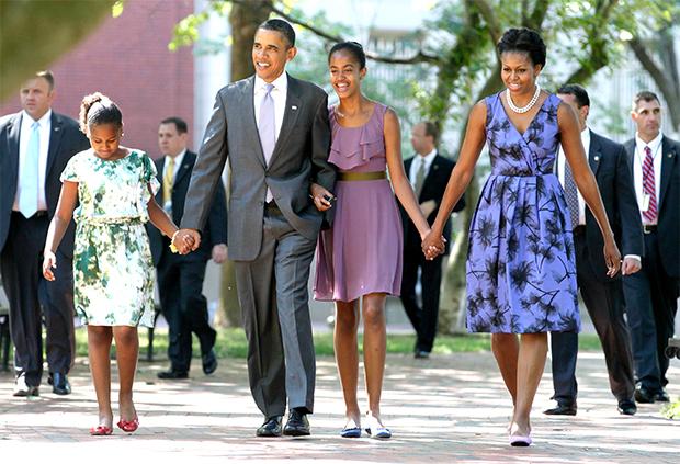 barack michelle obama daughters