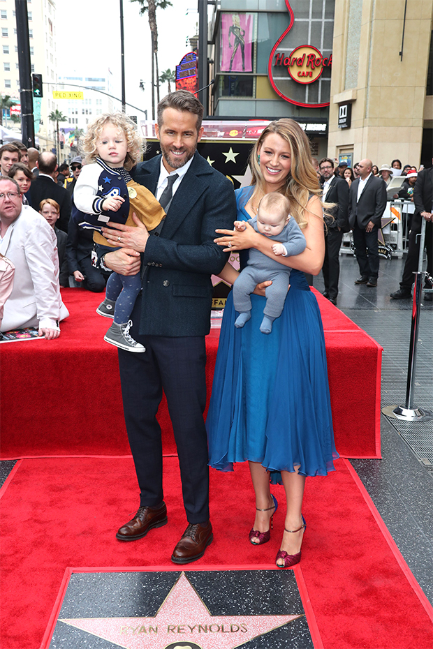 Blake Lively & Ryan Reynolds with their kids