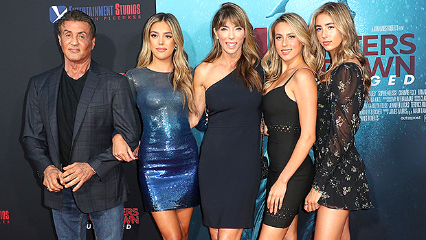 Sylvester Stallone, Jennifer Flavin, Sistine Stallone, Sophia Stallone, Scarlet Stallone