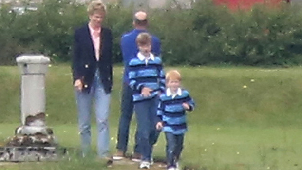 'The Crown' Season 5: First Photo Of Elizabeth Debicki As Princess Diana With Young William & Harry.jpg