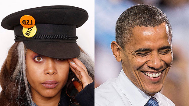 Erykah Badu, Barack Obama