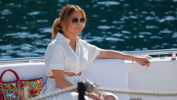 Jennifer Lopez Glows As She Wears Necklace With Ben Affleck's Name In Portofino — Photos