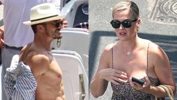 Katy Perry Grabs Orlando Bloom's Butt As They Passionately Kiss On A Yacht In Capri — Photos