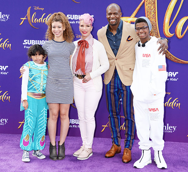 Terry Crews with wife Rebecca & kids