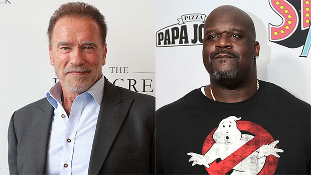 Arnold Schwarzenegger Jokes Shaquille O'Neal Is Standing On A '2 Foot Box' As He Hilariously Towers Over Him.jpg
