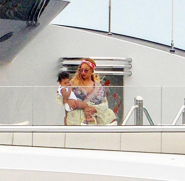 Beyonce & son Sir