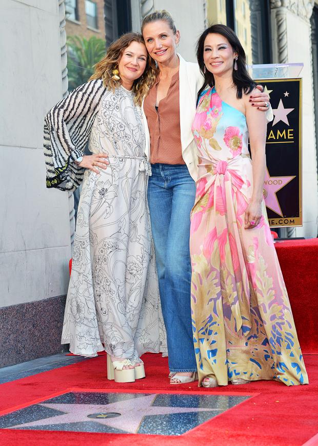 Drew Barrymore, Cameron Diaz, and Lucy Liu