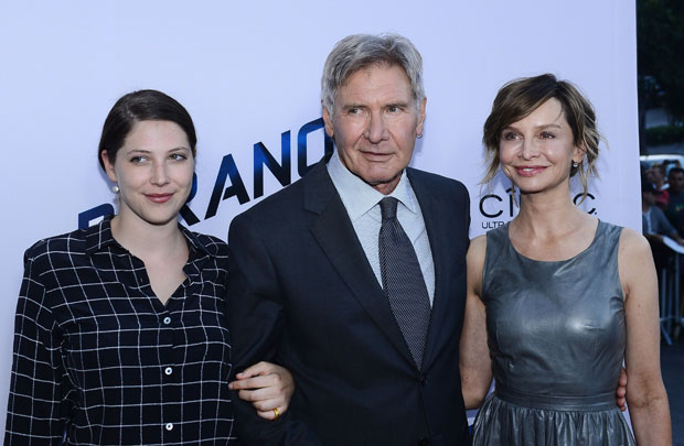 Harrison Ford with wife Calista Flockhart and daughter Georgia