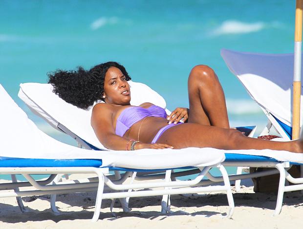 Kelly Rowland swimsuit yacht