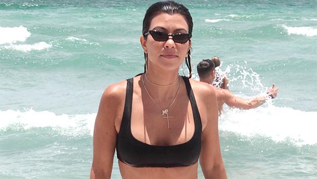 Kourtney Kardashian Rocks A Black Bikini As She Cozies Up To A Friend For Poosh Spa Day