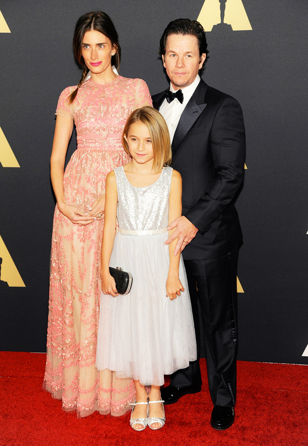 Mark Wahlberg with wife Rhea Durham and daughter Ella