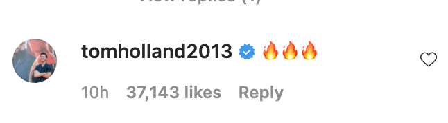 Tom Holland Leaves Flirty Comment On Zendaya S Sexy New Hellip