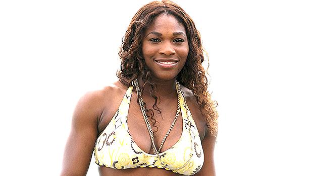 Serena Williams Walks Along The Beach In White Bikini & Animal Print Coverup For 'Work-cation' — Photos