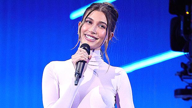 Hailey Baldwin Stuns In Sheer White Dress While Introducing Kacey Musgraves At MTV VMAs — Pics.jpg