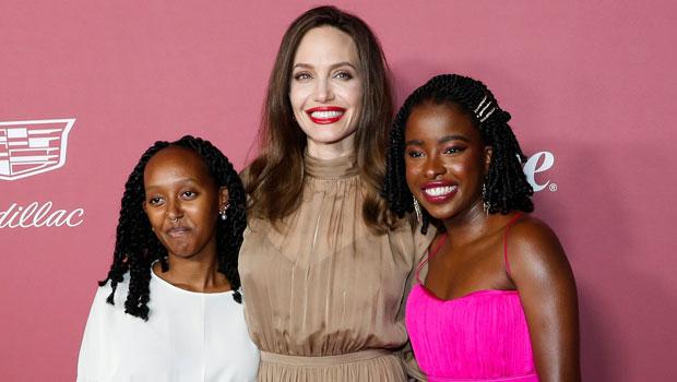 angelina jolie with daughter zahara and amanda gorman