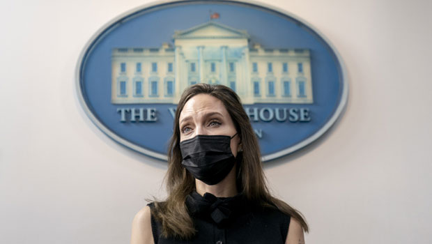 Angelina Jolie Nervously Giggles At White House Podium As She Discusses Violence Against Women Act.jpg