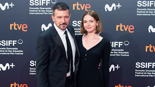 Antonio Banderas' Daughter Stella, 24, Stuns In Fitted Black Dress On Red Carpet With Dad.jpg