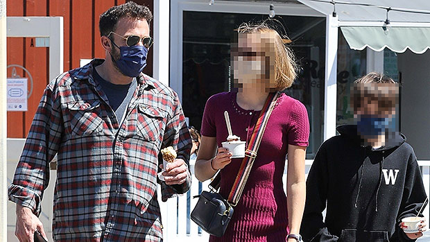 Ben Affleck Enjoys An Ice Cream Date With Daughters Violet, 15, & Seraphina, 12, After NYC Trip With J.Lo