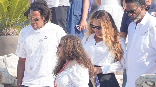 Beyonce Slays In Black Mini Skirt With Jay Z & Mom in Cannes After 40th Birthday — Photo.jpg