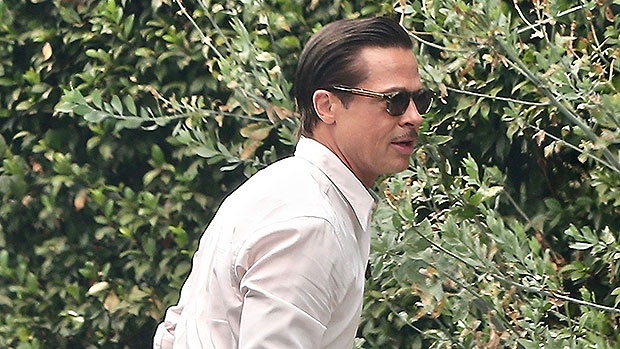 Brad Pitt Looks Sexy With Slicked Back Hair On Film Set Amid Custody Battle With Angelina Jolie