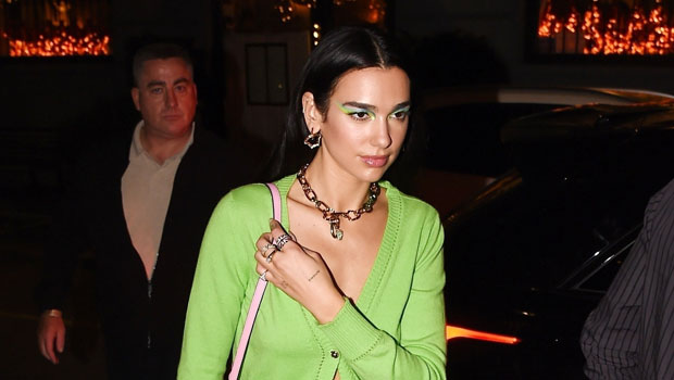 Dua Lipa Wears Miniskirt & Sweater With Nothing Underneath For Dinner With Gigi Hadid After Runway Debut.jpg